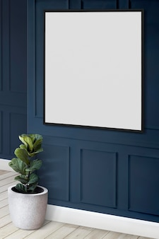 Maquete do porta-retrato na parede