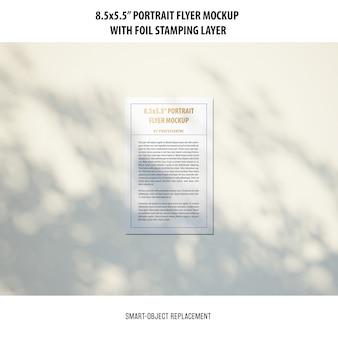 Maquete do portrait flyer 5,5 x 8,5 ''