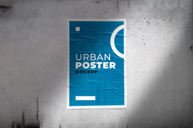 Maquete do pôster urbano