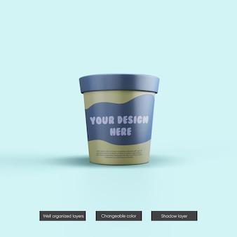 Maquete do pote de sorvete em renderização 3d