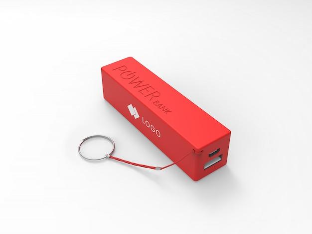 Maquete do powerbank vermelho