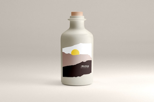 Maquete do produto da garrafa