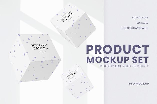 Maquete do produto psd com arte em giz de cera roxo