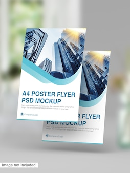 Maquete do psd a4 flyer flyer
