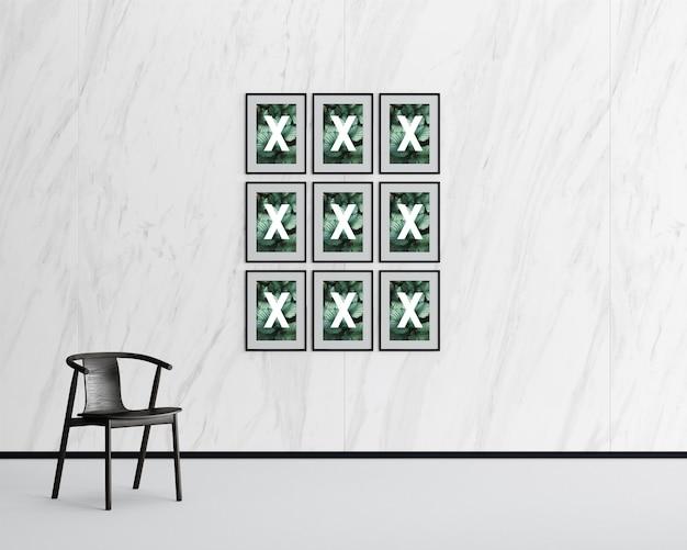 Maquete do quadro multi falery