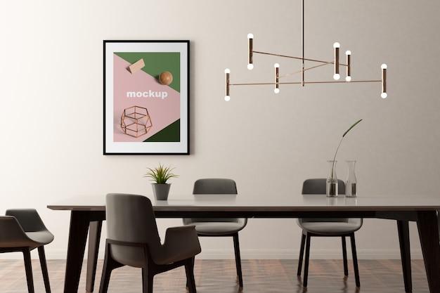 Maquete do quadro no escritório