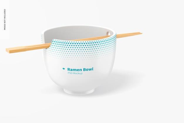 Maquete do ramen bowl, vista esquerda