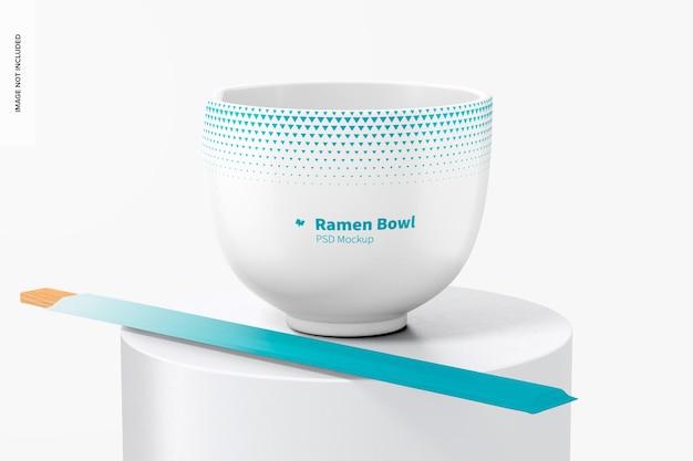 Maquete do ramen bowl, vista frontal
