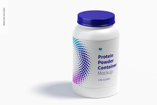 Maquete do recipiente de proteína em pó, fechado