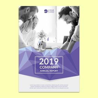 Maquete do relatório anual corporativo