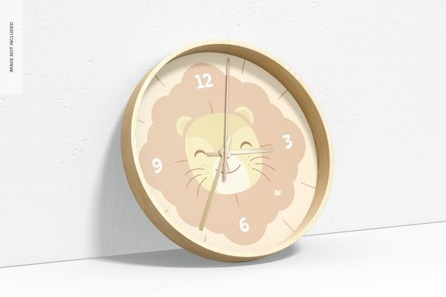 Maquete do relógio de parede, inclinado