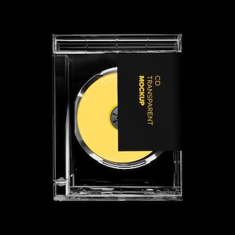 Maquete do retângulo da caixa do cd