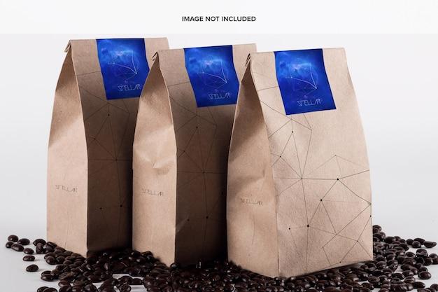 Maquete do saco de café