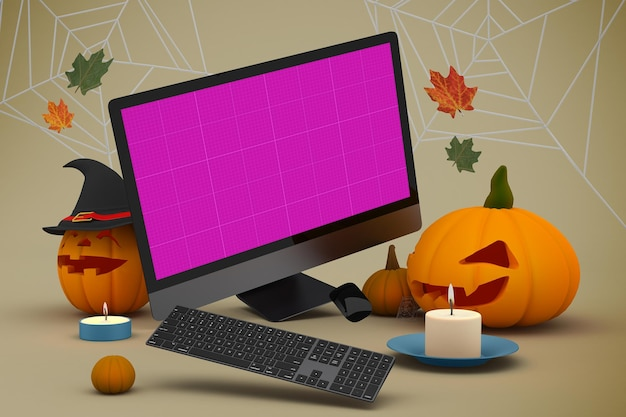 Maquete do site de halloween