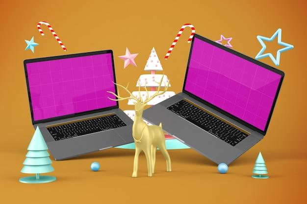 Maquete do site de natal Psd Premium