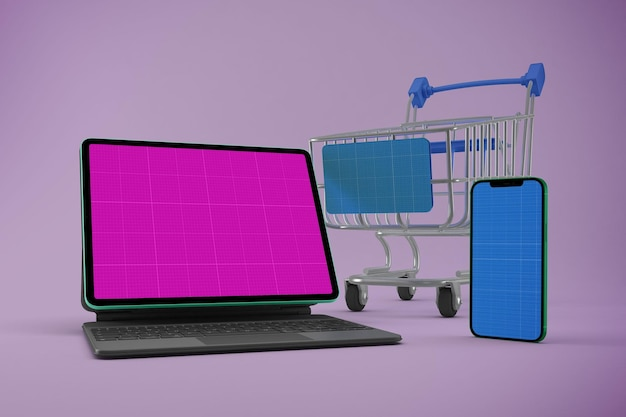 Maquete do site do shopping responsivo