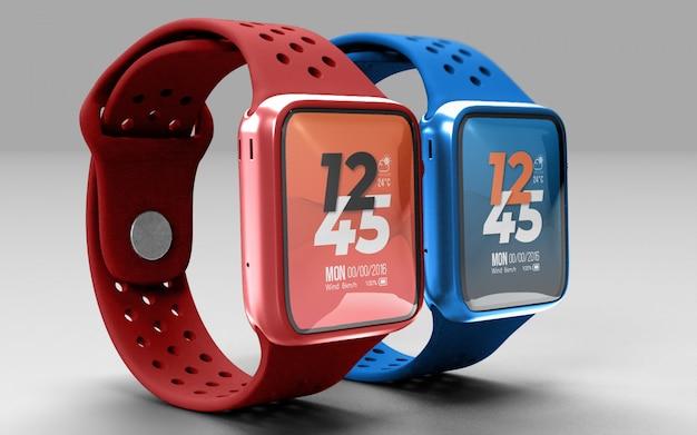 Maquete do smartwatch psd premium