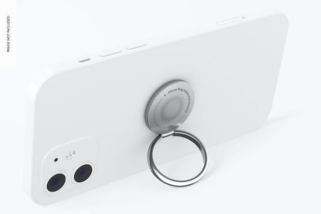 Maquete do suporte do anel do telefone