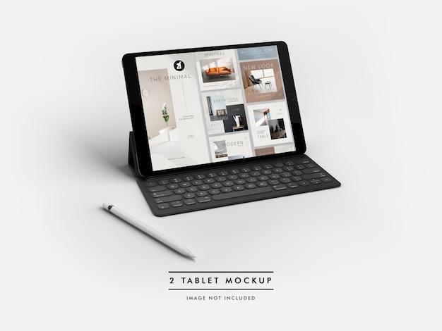 Maquete do tablet e gerador de cena Psd Premium