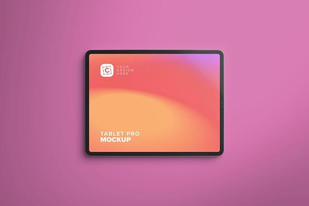 Maquete do tablet pro paisagem para web design