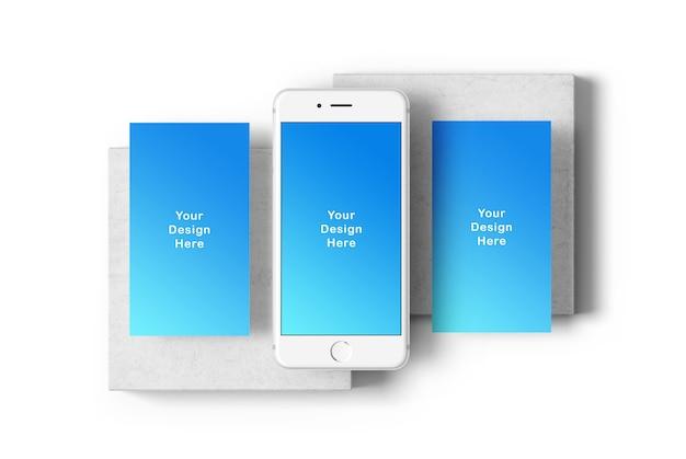 Maquete do telefone de tela