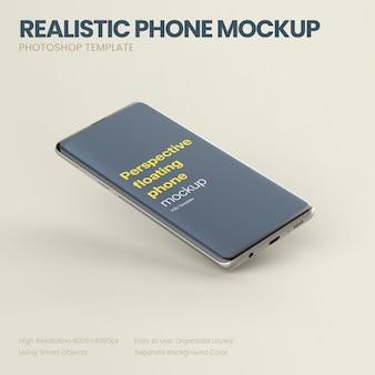 Maquete do telefone em perspectiva