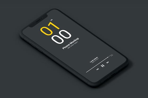 Maquete do telefone escuro
