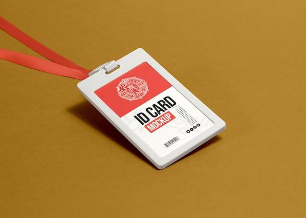 Maquete do titular do cartão de identificação do escritório corporativo