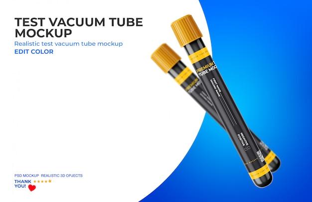 Maquete do tubo de vácuo de teste