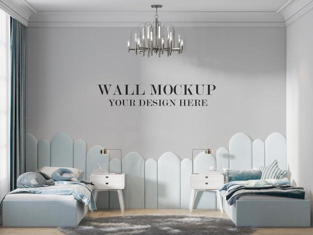 Maquete elegante da parede do quarto de adolescentes