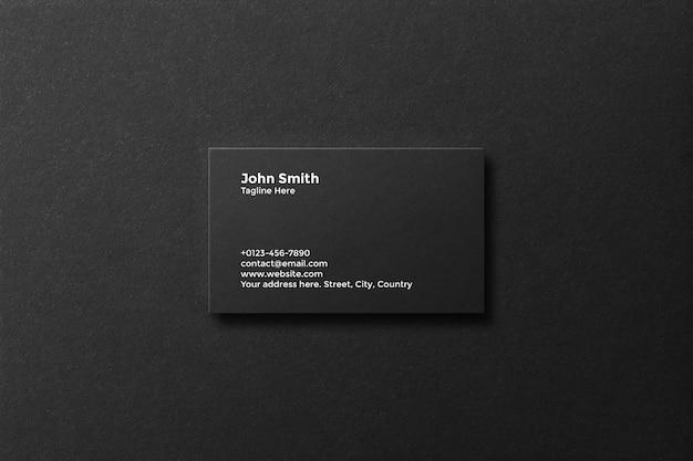 Maquete elegante de cartão de visita mínimo