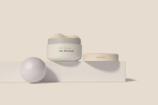 Maquete elegante de embalagem de produtos cosméticos para cuidados com a pele