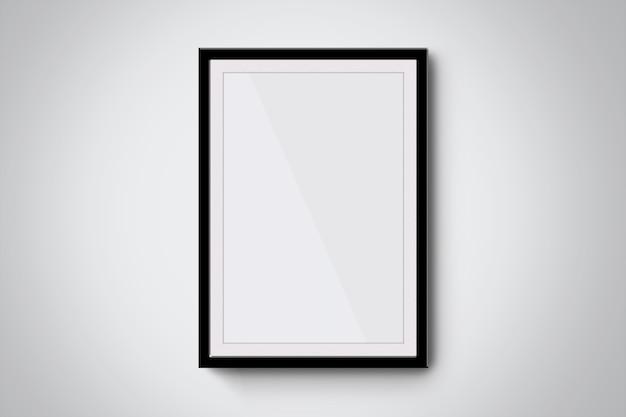 Maquete elegante de molduras de fotos