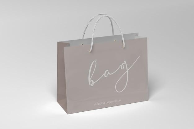Maquete elegante de sacola de papel