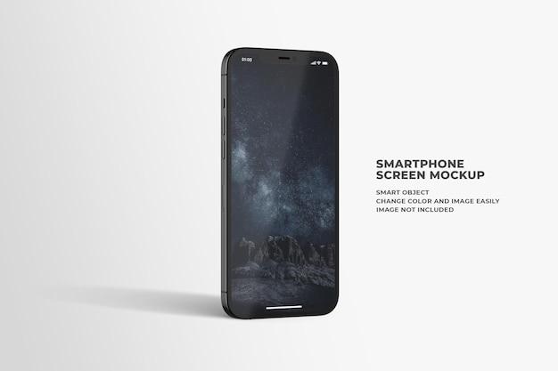 Maquete elegante e brilhante da tela do smartphone