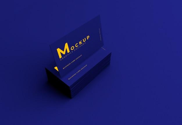 Maquete elegante e realista de cartão de visita