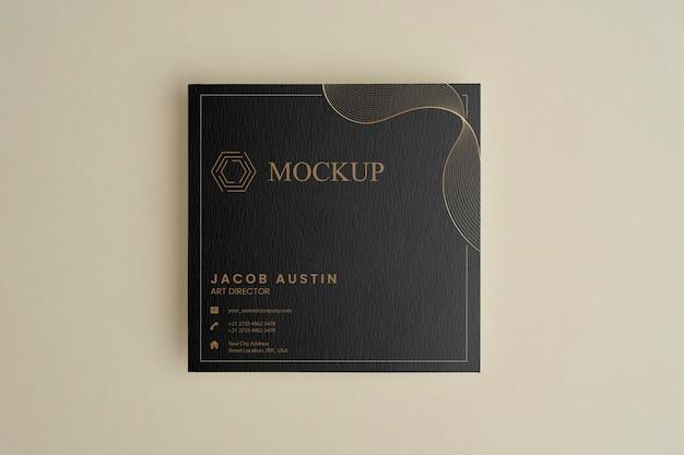 Maquete elegante para arranjo de cartão de visita corporativo