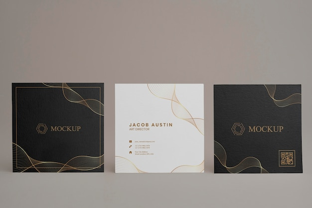 Maquete elegante para cartão de visita corporativo