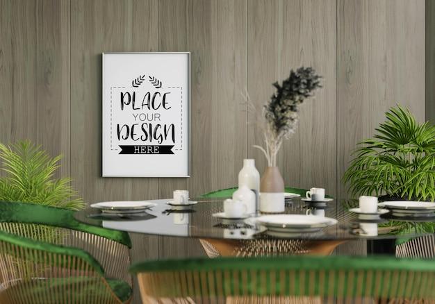 Maquete em tela, arte na parede da sala de jantar