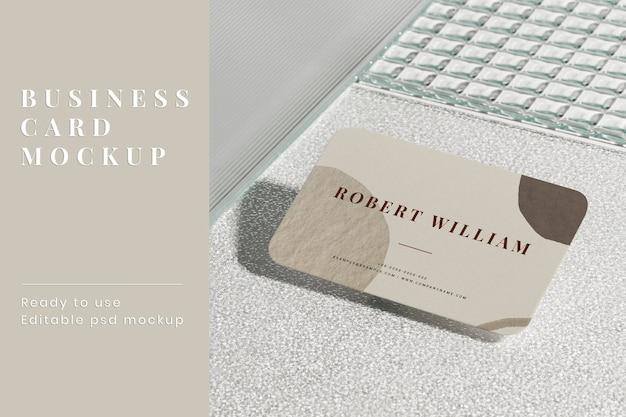 Maquete estética de cartão de visita psd identidade corporativa