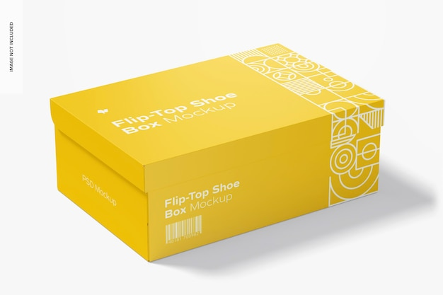 Maquete flip-top para caixa de sapatos