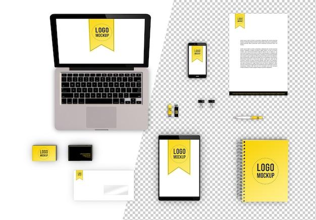 Maquete gerada em 3d do conceito de livro da marca