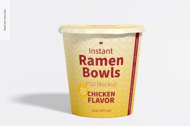 Maquete instantânea de ramen bowl
