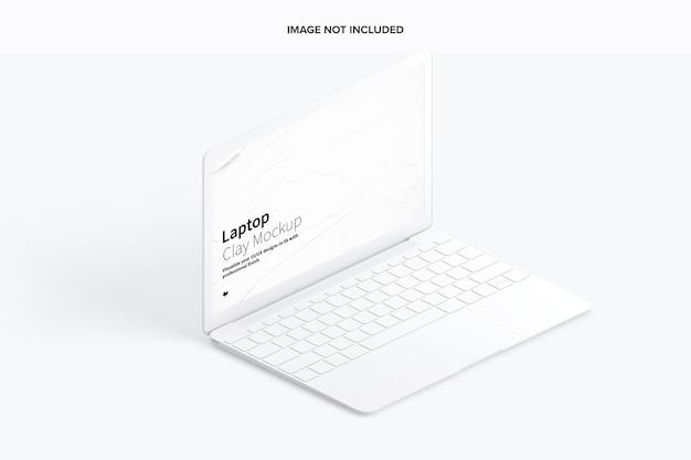 Maquete isométrica de laptop
