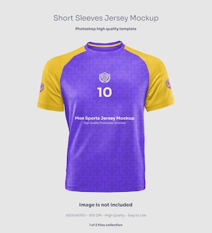 Maquete masculina de mangas curtas em jersey