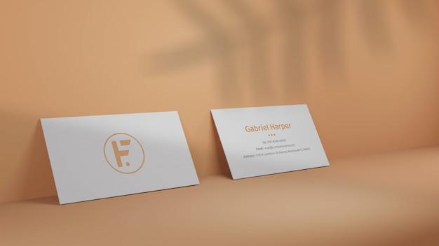 Maquete mínima de cartão de visita