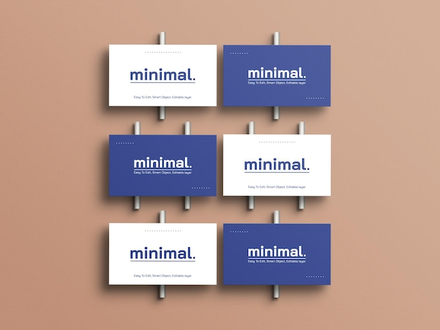 Maquete mínima de cartões de visita