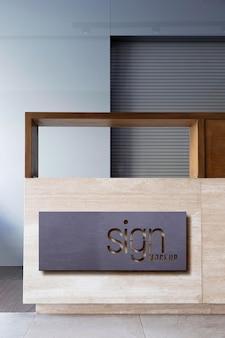 Maquete minimalista da marca corporativa