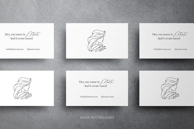 Maquete minimalista de cartões de visita