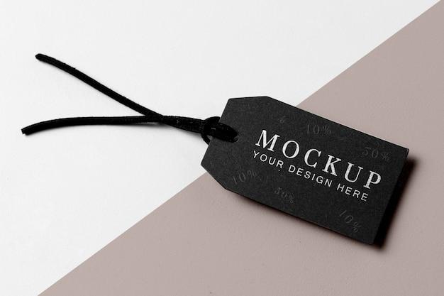Maquete minimalista de marca preta de roupas